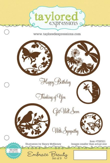 TEFS031 ~ EMBRACE BEAUTY ~ set 9 stamps ~ Taylored Expressions